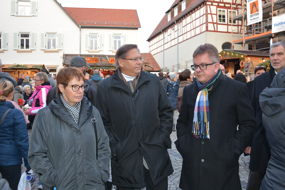 In Bad Wimpfen mit Guido Wolf