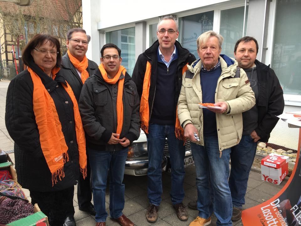 Wahlkampf in Möckmühl