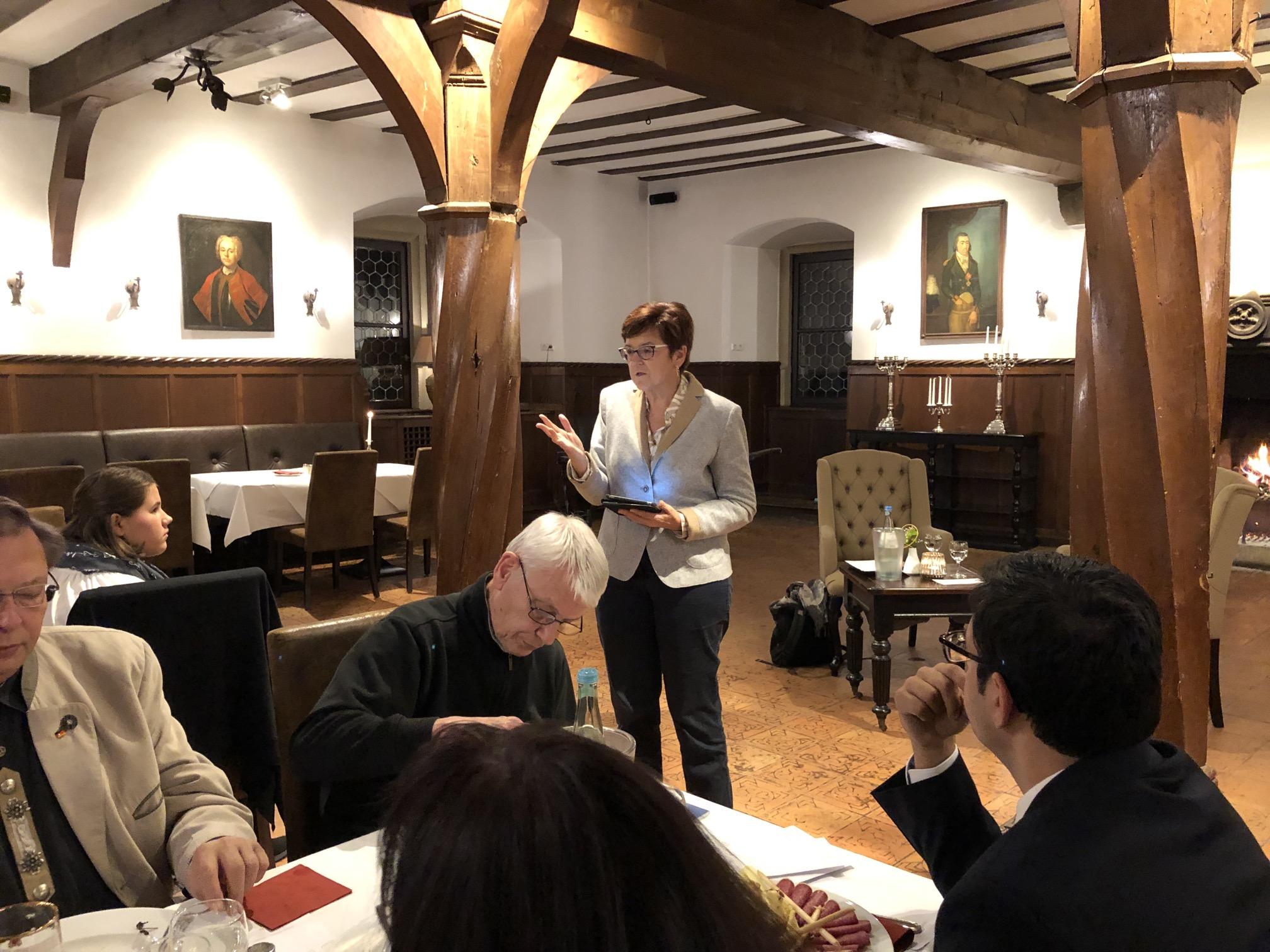 Kamingespräch mit Frau Dr. Inge Gräßle MdEP